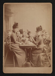 Table of Alpha Chis and Fijis Cabinet Card, Fall 1887
