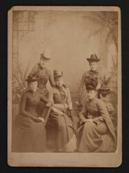 Starr, Hough, Rude, Paul and Burnett at Thanksgiving Photograph, November 1888