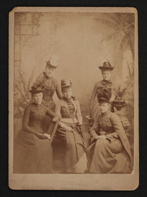 Starr, Hough, Rude, Paul and Burnett at Thanksgiving Photograph, November 1888