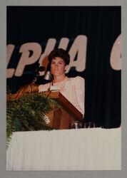 Julie Brown Receiving Award of Achievement Photograph, 1985