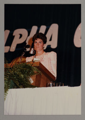 Julie Brown Receiving Award of Achievement Photograph, 1985