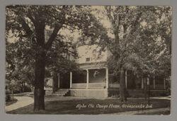 Alpha Chapter House Postcard