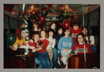 Zeta Psi Chapter Members at Streetcar Party Photograph, 1990