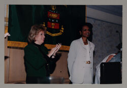 Janice Crandall and Dr. Condoleezza Rice Photograph, July 2000