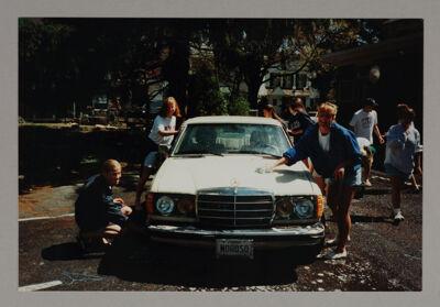 Eta Chapter Members Washing Car Photograph, Spring 1994