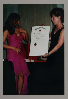 Donna Chereck Presenting Charter to Kappa Lambda Chapter Photograph, November 12, 2005