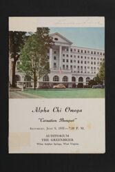 Alpha Chi Omega Carnation Banquet Program, July 9, 1955
