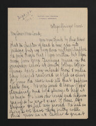 Harriet Bardwell to Alta Allen Loud Letter, c. June 22, 1908