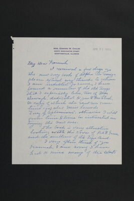 Nellie Childe to Hannah Keenan Letter, April 19, 1953