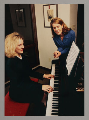 Alpha Chi Playing Piano Photograph