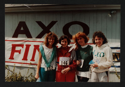 Hannan, Champagne, Conrad and Pikanis at First Annual Lonni Stern Memorial Run Photograph, May 1, 1988