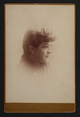 Bertha Deniston Cunningham Portrait Cabinet Card