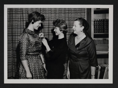 Gamma Psi Chapter Pinning Ceremony Photograph, 1958