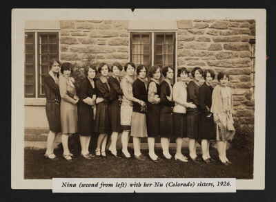 Nu Chapter Members Photograph, 1926