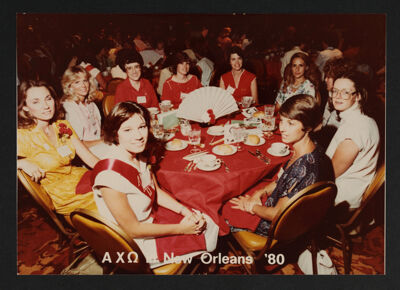 Table of Nine at National Convention Photograph, 1980