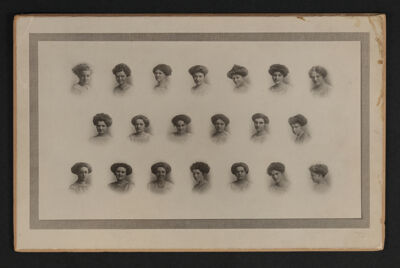 Kappa Chapter Composite Cabinet Card, 1911