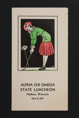 Alpha Chi Omega State Luncheon Program, May 9, 1931