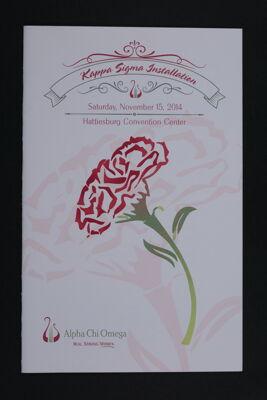Kappa Sigma Installation Program, November 15, 2014