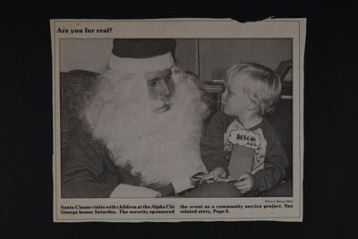 Just a Small Christmas Tree Newspaper Clipping, c. 1989