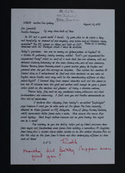 Ruth to Jan Crandall and Martha Hannegan Letter, August 21, 1984