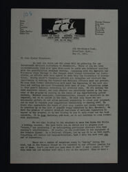 Gladys Graff to Chapter Presidents Letter, May 15, 1924
