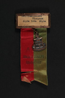 Pauline Thompson Golden Jubilee Convention Name Tag, 1935