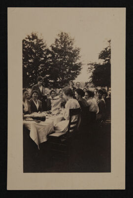 Alpha Eta Chapter Outdoor Dinner Photograph, c. 1920