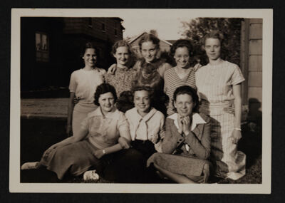 Alpha Omicron Chapter Members Photograph, 1936