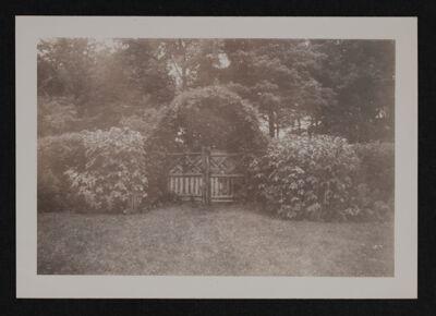 Gate to MacDowell Grove Photograph, 1947