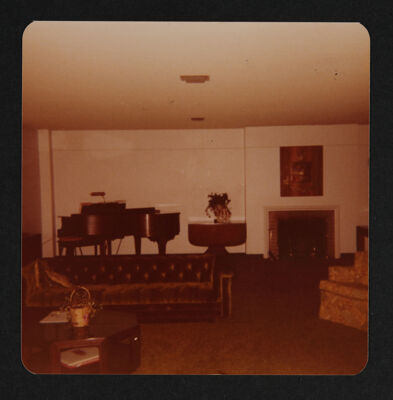 Delta Kappa Chapter House Living Room Photograph, 1978