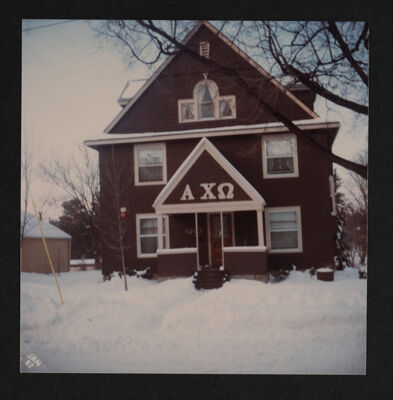 Epsilon Iota Chapter House Photograph, January 5, 1982