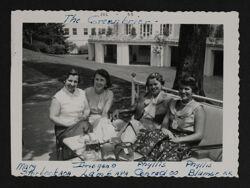 Storbeck, Lamb, Conrad and Blumer Lounging at Convention Photograph, 1955
