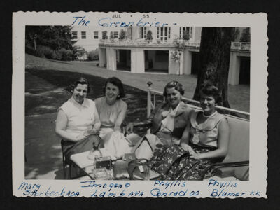 Storbeck, Lamb, Conrad and Blumer Lounging at Convention Photograph, 1955