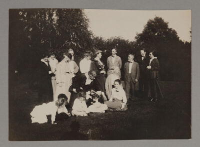 Group at Beta Beta Annual Picnic Photograph, June 1916
