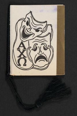 Gamma Eta Chapter Masquerade Ball Program, November 20, 1953