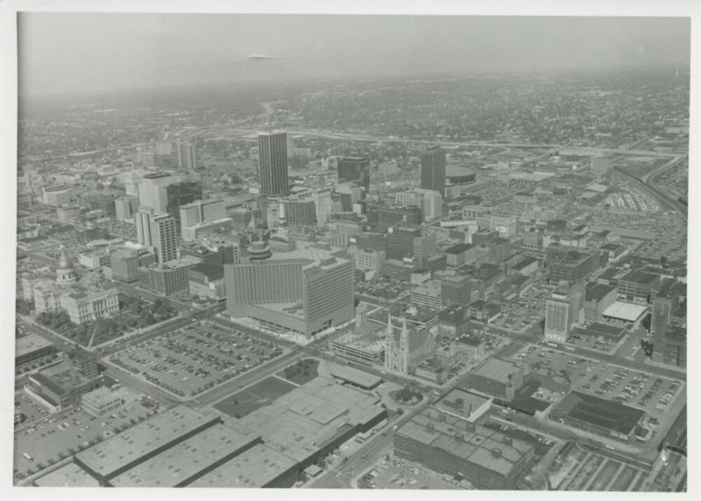 Aerial View of Downtown Indianapolis, c.1982