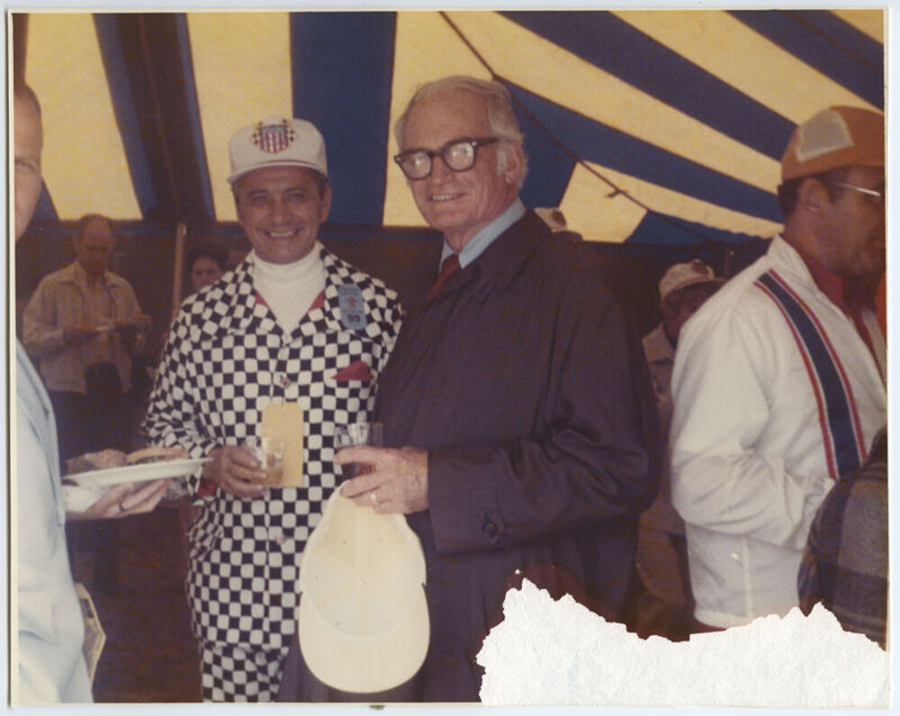 L. Keith Bulen and Barry Goldwater at the Indianapolis 500, 1973