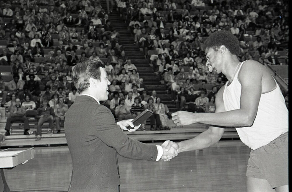 Mayor Lugar Celebrates With the Pacers, 1975
