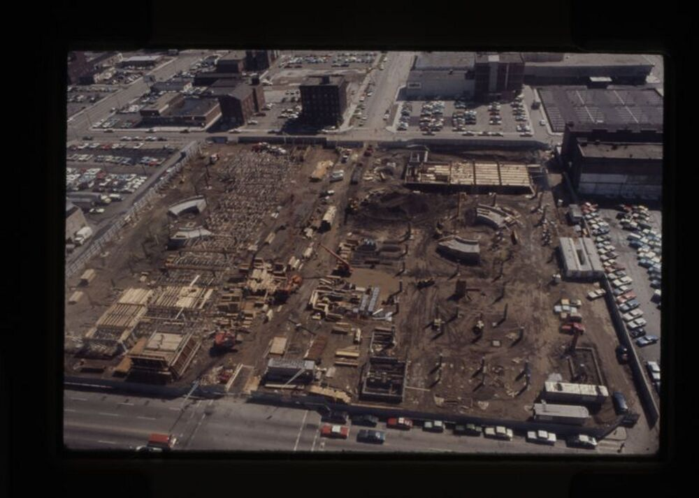 Construction of the Hoosier Dome, c.1982