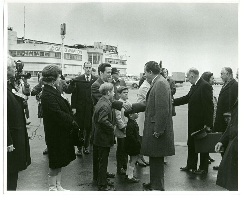President Nixon Visits Indianapolis