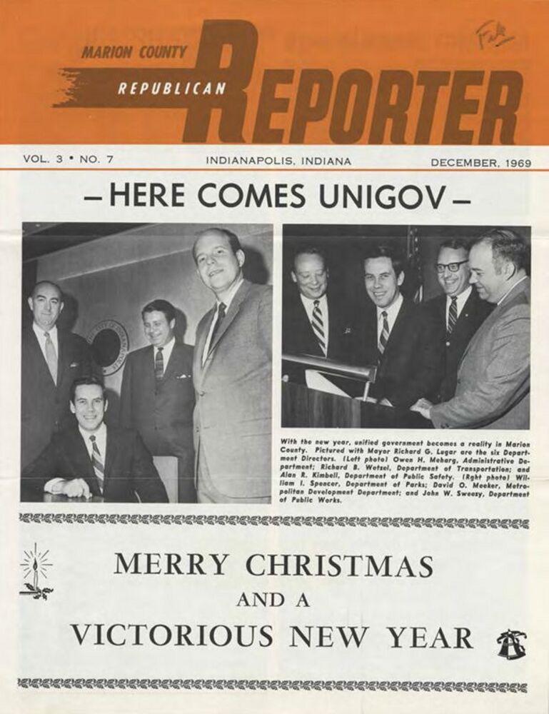 Implementation: Here Comes UniGov, December 1969