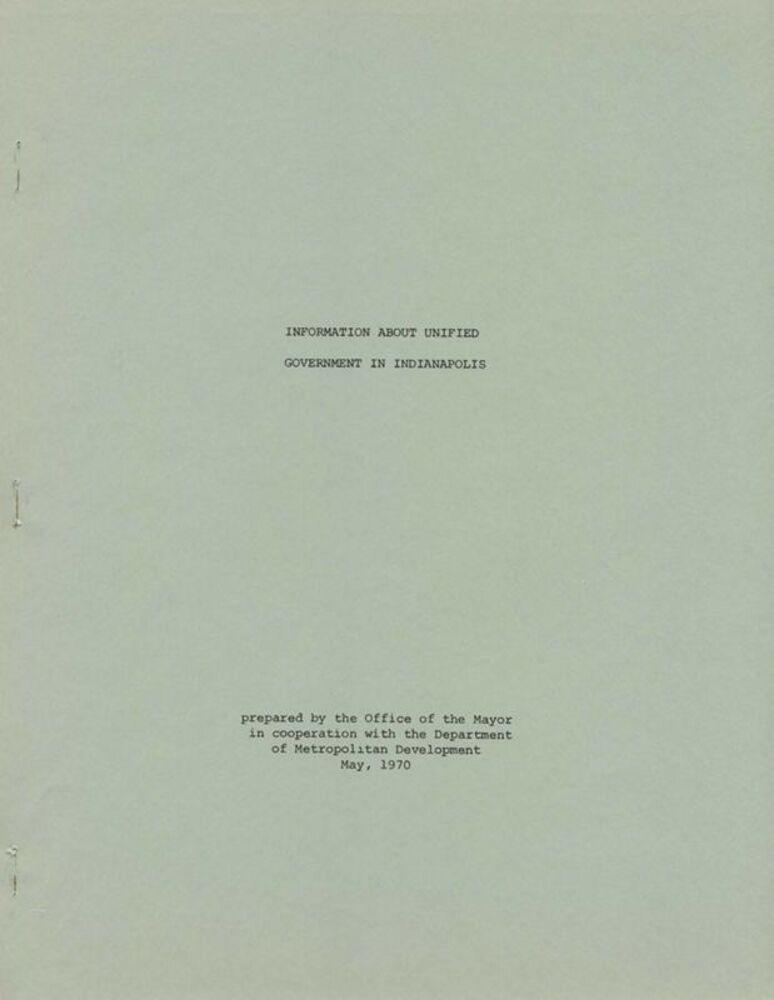 Guide to Local Government Services under UniGov, 1970