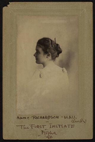 Anne Richardson Hall Cabinet Card, 1898
