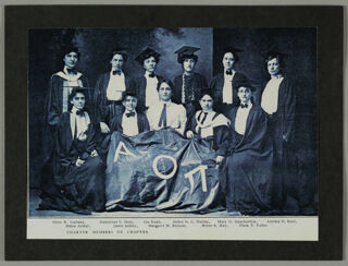 Nu Chapter Charter Members Photograph, c. 1900