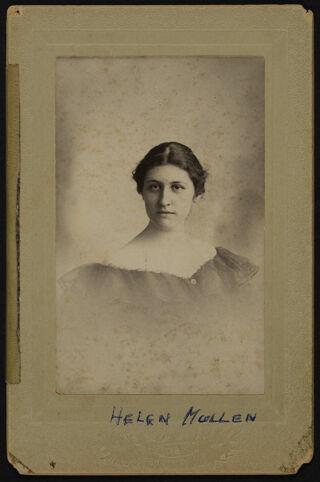 Helen Mullan Cabinet Card, 1898