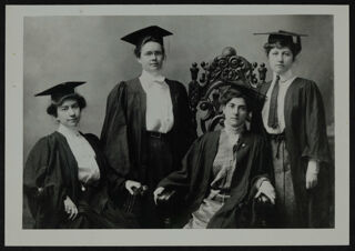 Founders Wearing Caps and Gowns Photograph, c. 1898