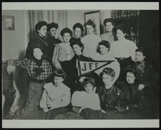 Fifteen JFF Members with Pennant Photograph, c. 1905-1907
