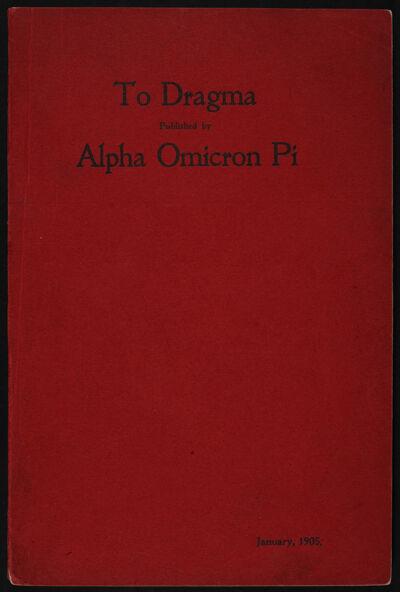 To Dragma, Vol. 1, No. 1, January 1905