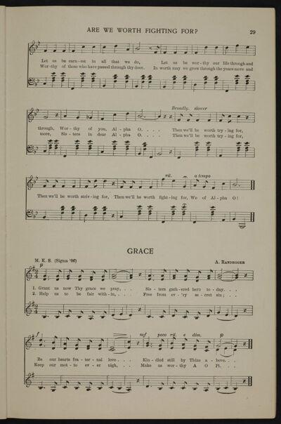 Lyrics Written to AOII Grace