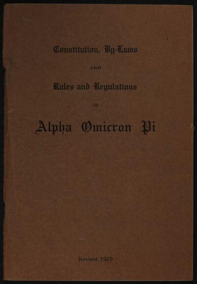 AOII Officially Organized, Alpha Chapter (Barnard College)